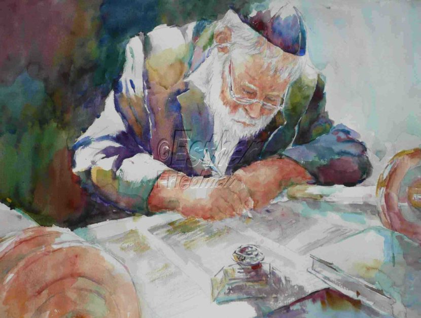 Esther Friedman Painting Torah Scriber