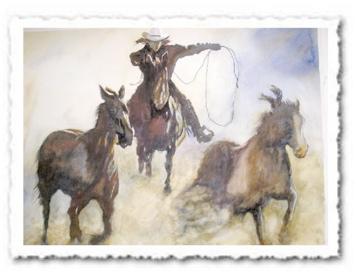 Cowboy - Helena Castro Figurative Texas Ar