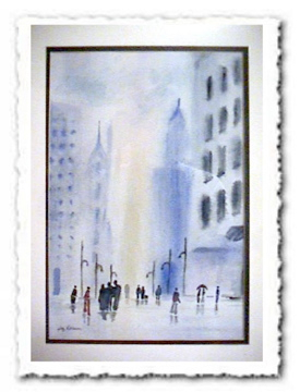 City Scape - Helena Castro Painting