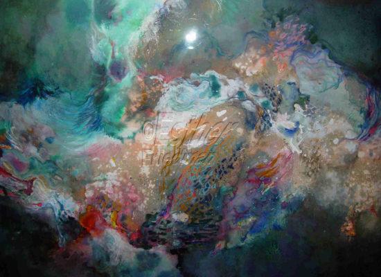 Landscape Evolves - Esther Friedman Modern Painting Dallas TX