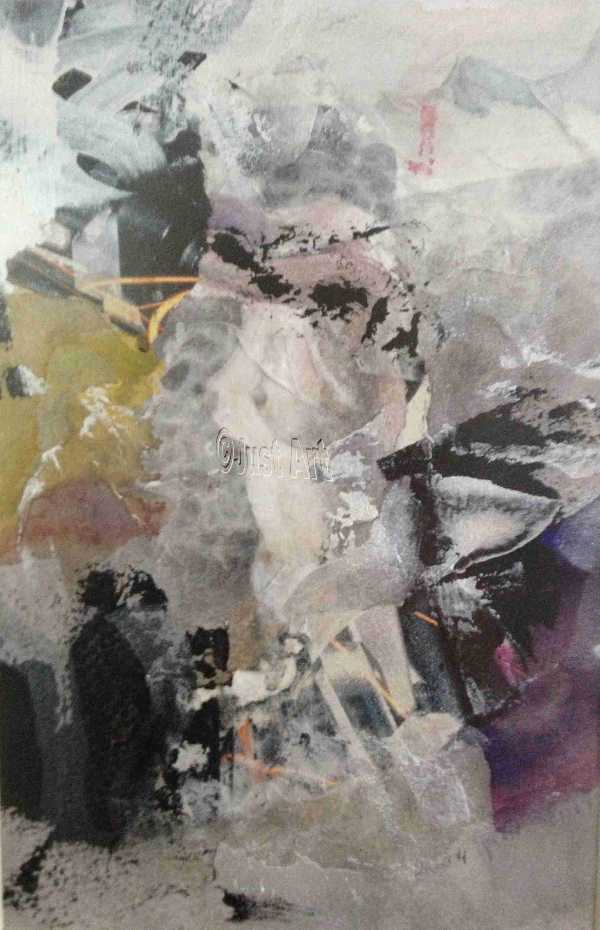 Abstract Scene - Rachel Wolman art