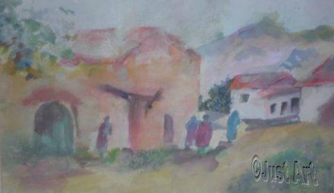 Behind Town Walls - Rachel Wolman Art