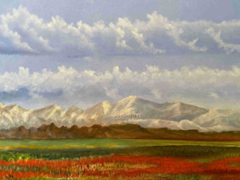 Blooming Valley and Mountains - Horacio Marull Art