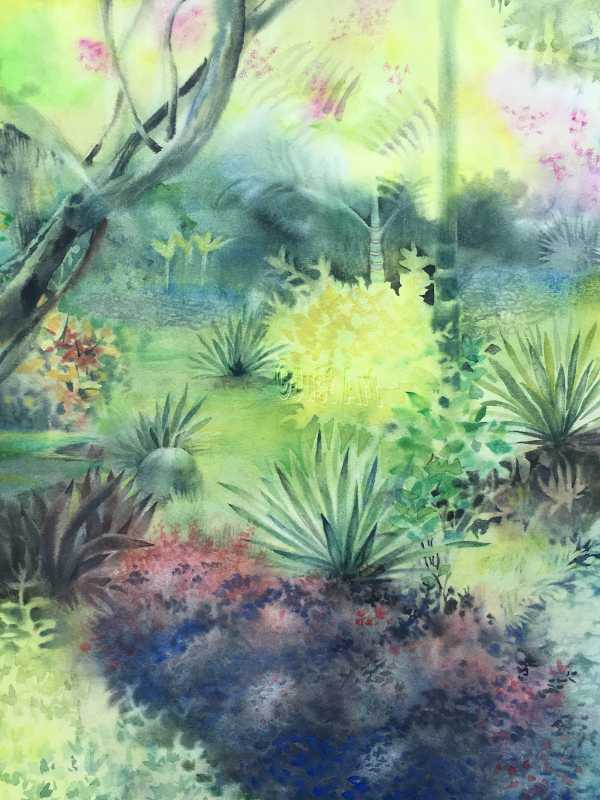 Dreamy Garden - Edna Goldstein Art