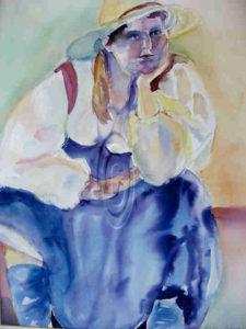 Girl With Hat - Barbara Nehman