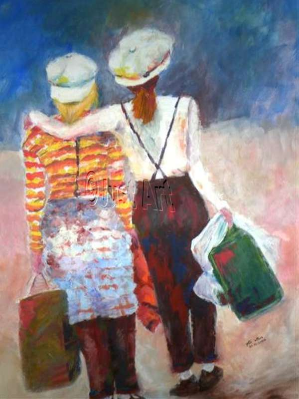 Going Shopping - Rachel Wolman Painting