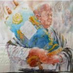 Painting Jewish Rabbi Step 3