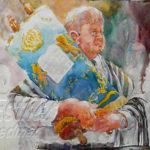 Painting Jewish Rabbi Step 4