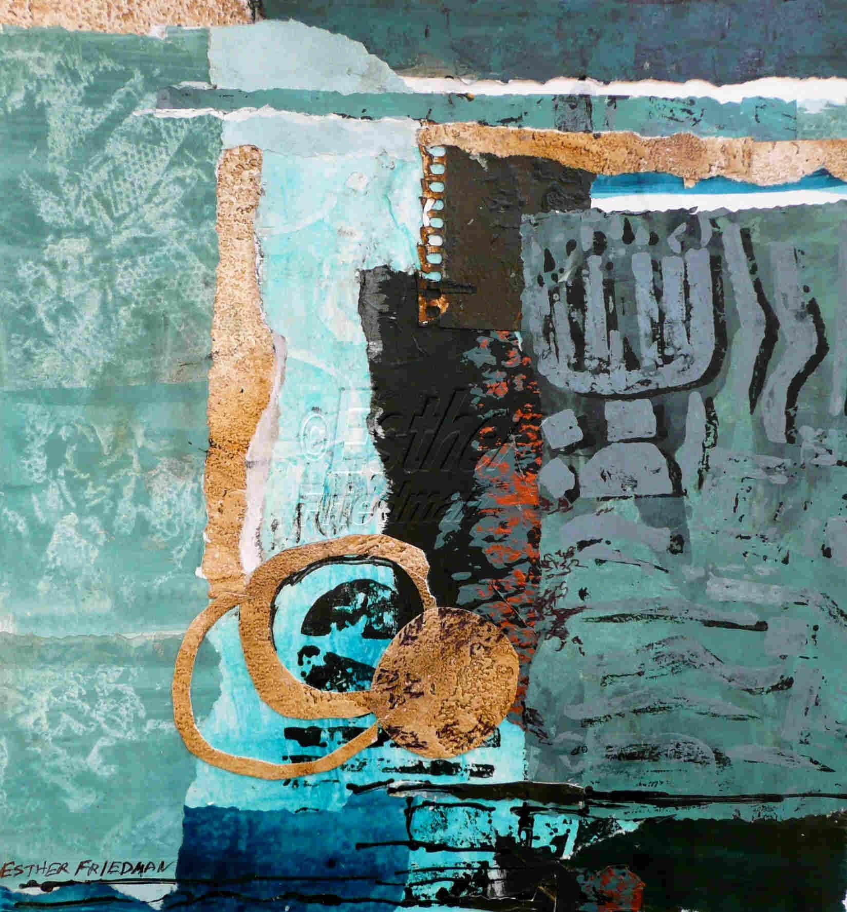 Lost Treasure Menorah - Esther Friedman Jewish Art
