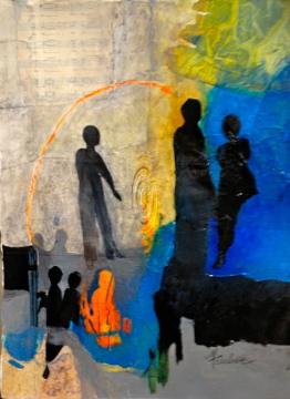 Conversing - Mary Truelove Painting