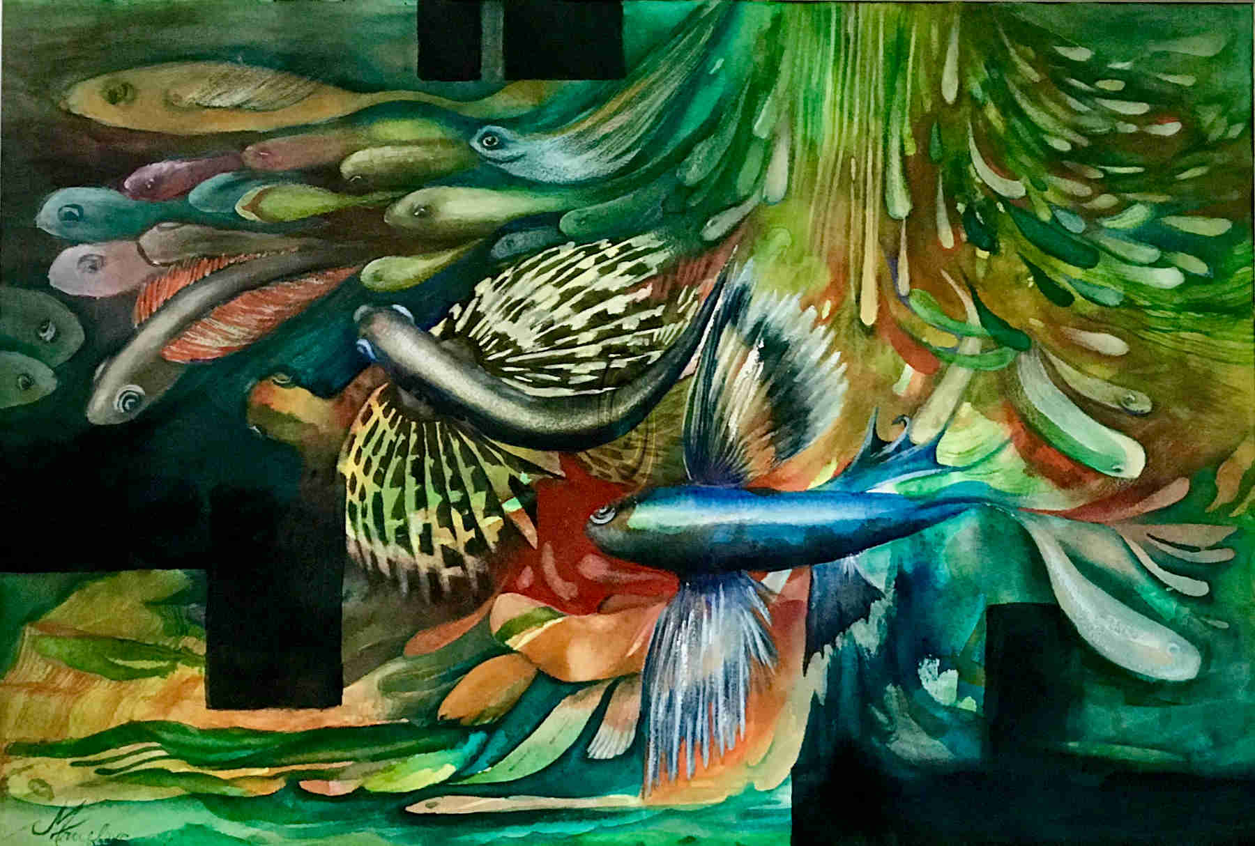 Flying Fish - Mary Truelove Texas Artist
