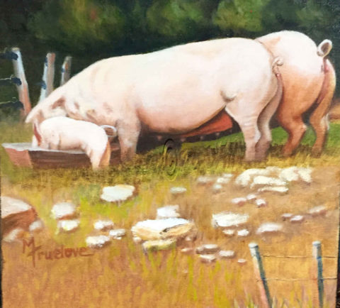French Pork - Mary Truelove Art