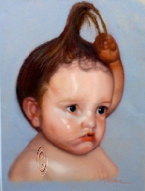 Young Child - Mary Truelove Portrait Art