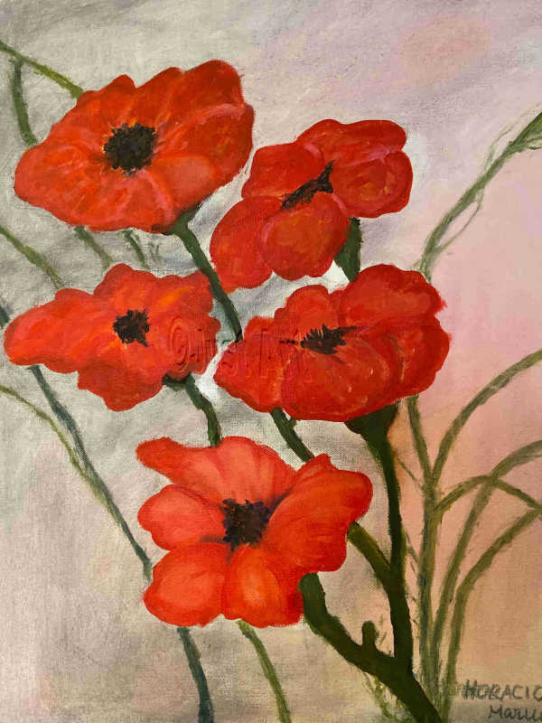 Red Poppies - Horacio Marull Art