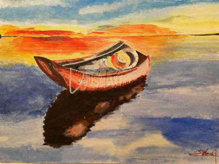Sunset on The Boat - Saul Sokol