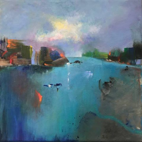 Shimmering Lights By the Sea - Edna Goldstein Art