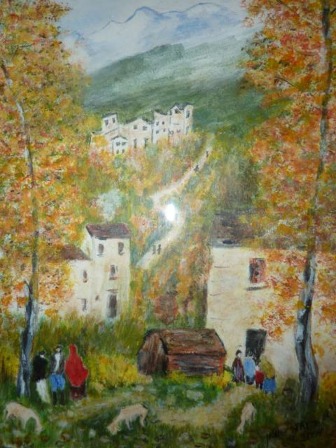 Village - Rachel Wolman Painting
