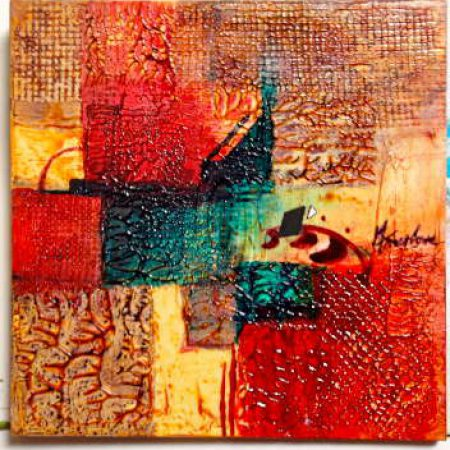 Abstract in Red - Mary Truelove Texas Artist